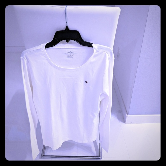 b2389508 Tommy Hilfiger Tops | New Womens White Long Sleeved Shirt | Poshmark